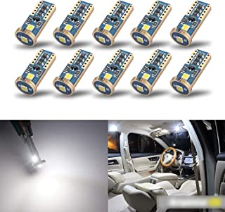 iBrightstar Newest Extremely Bright Wedge T10 168 194 LED Bulbs For Car Interior Dome Map Door Courtesy License Plate Lights,Xenon White