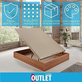 comprar comparacion Komfortland Canapé abatible Wood de Home Medida 135x190 cm Color Cerezo