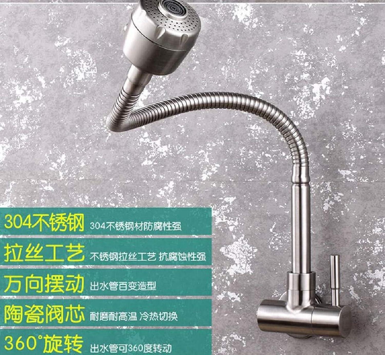 Kitchen Tap Single-Cold Wall Kitchen Wall-Mounted Washbasin 40,000-Direction redating Faucet Kitchen Taps Kitchen Sink Mixer Taps Basin Tap