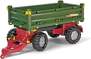 Rolly Toys 125005 - rollyMulti Trailer für Trettraktoren für Kinder von 3 - 10 Jahre, Dreiseitenkipper