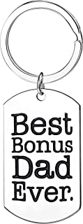 Step Dad Gifts Best Bonus Dad Ever Keychains Jewelry For Father In Law Thank You Gifts For Men