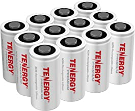 Tenergy Premium CR123A 3V Lithium Battery, [UL Certified] 1600mAh Photo Lithium Batteries, Security Cameras, Smart Sensors, Specialty Devices, 12 Pack, PTC Protected