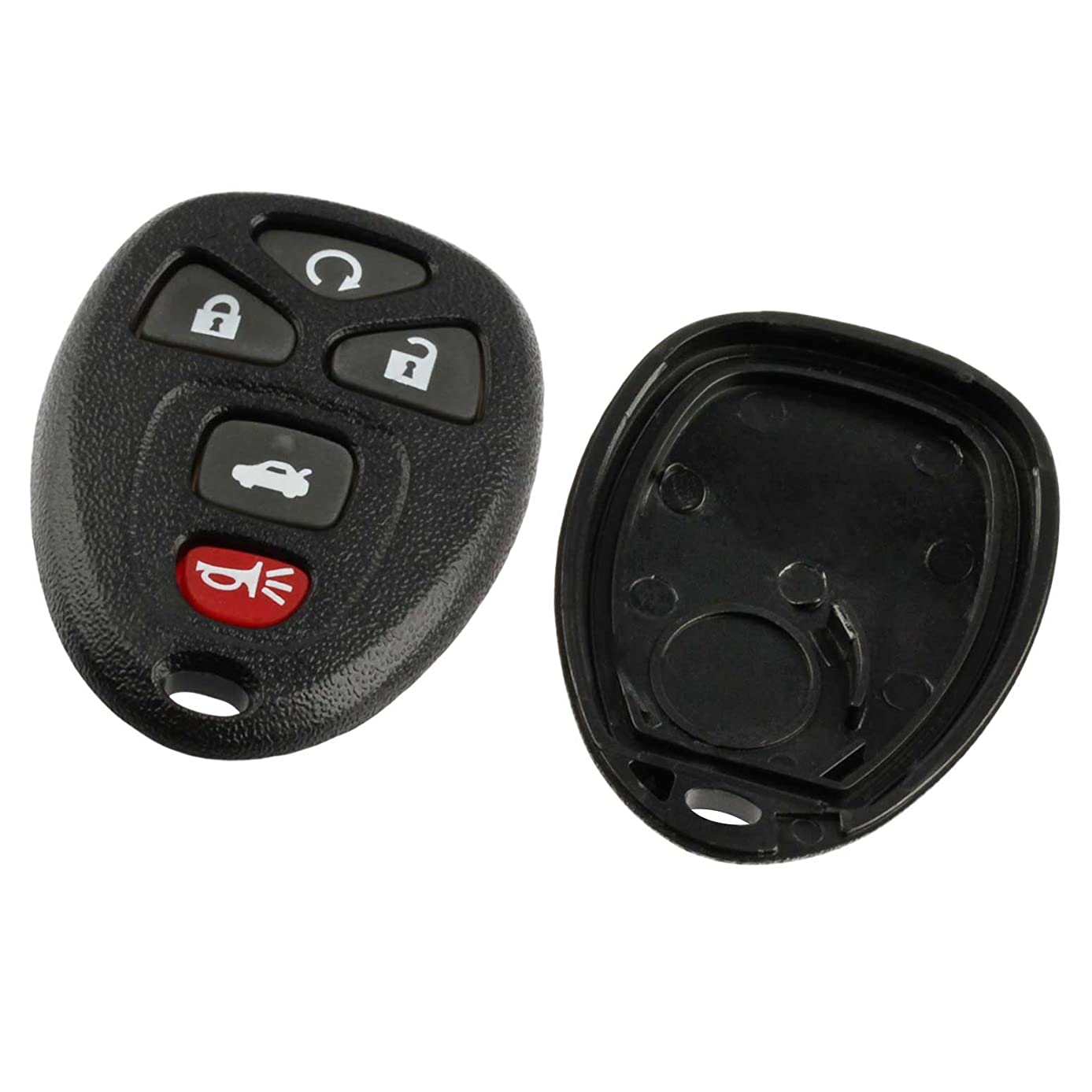Case Shell Key Fob Keyless Entry Remote fits Buick Lucerne / Chevy Impala Monte Carlo / Cadillac DTS (OUC60270, OUC60221)