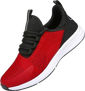 KOUDYEN Zapatillas Running Hombre Mujer Zapatos para Correr y Asfalto Aire Libre y Deportes Calzado Ligero Transpirable Sn...