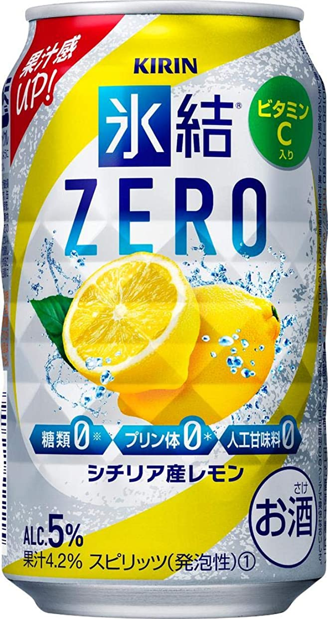 仮定機密類推キリン 氷結ZERO シチリア産レモン [ チューハイ 350ml×24本 ]