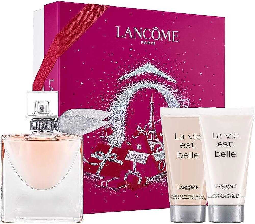 Lancome la vie est belle, confezione profumo piu` latte corpo piu` gel douche per donna 745902
