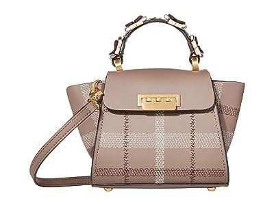 ZAC Zac Posen Eartha Mini Top-Handle Tartan (Shale) Handbags