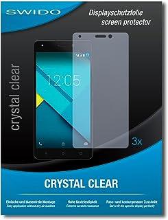"""3 x SWIDO Screen Protector BQ Aquaris M5.5 Skärmskydd film""""CrystalClear"""" osynlig"""