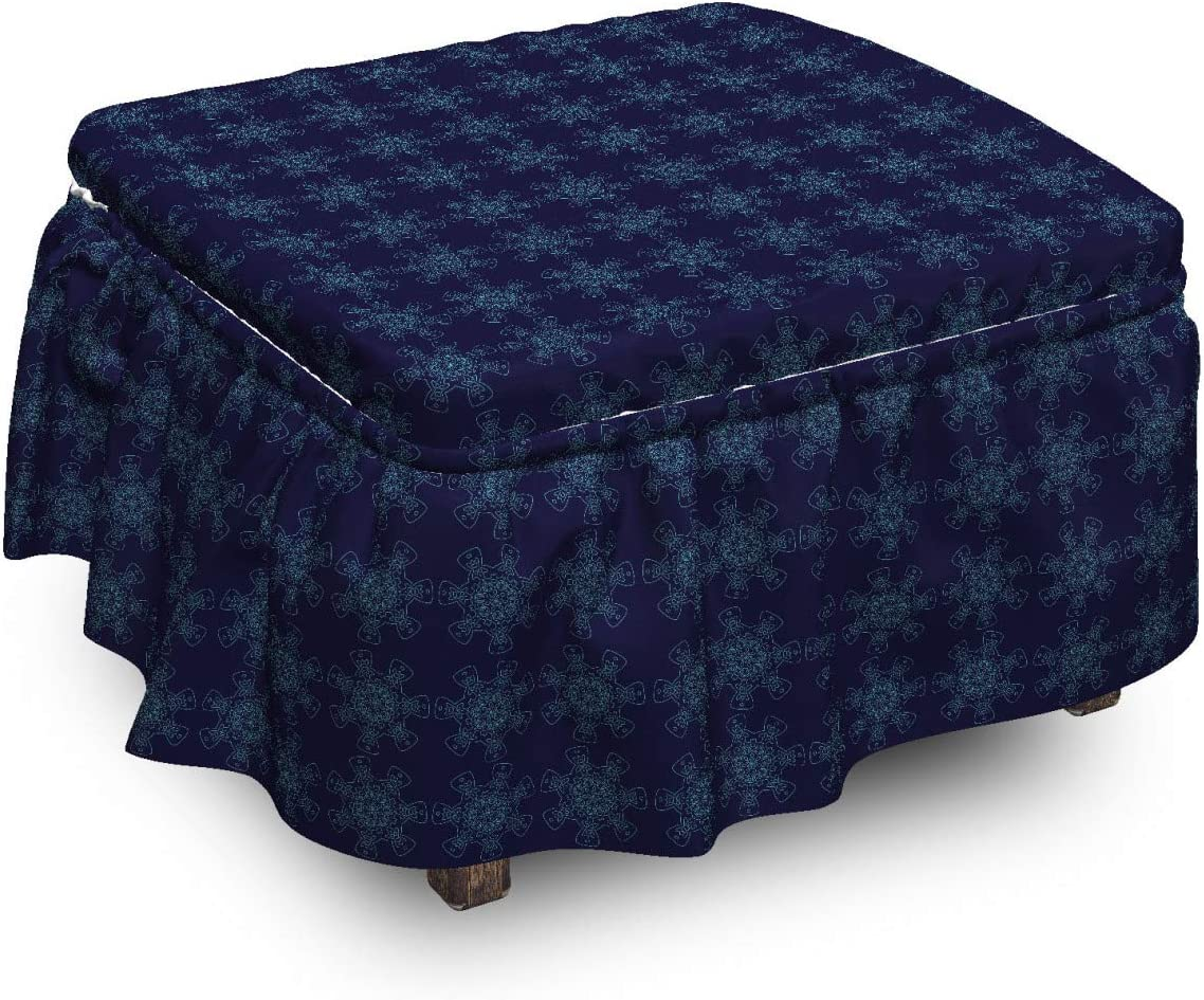 Ambesonne Abstract Ottoman Tampa Mall Cover Digital Omaha Mall Lace 2 Print Flowers