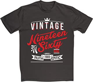 Men's Authentic 1969 Vintage Year 46th Birthday Date T-shirt