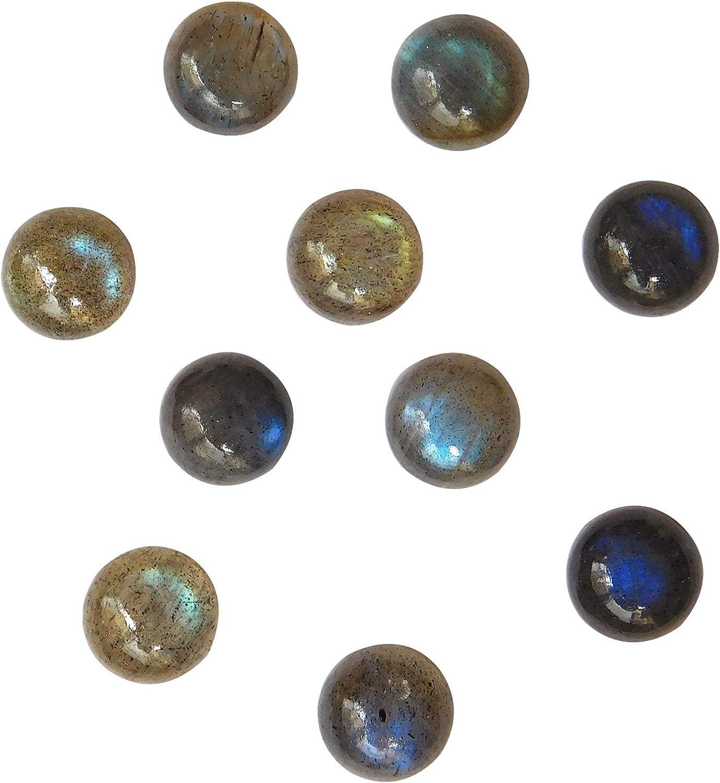 Natural Labradorite 9x9 Columbus Mall Max 44% OFF mm Round Cabochon G Making Loose Jewelry