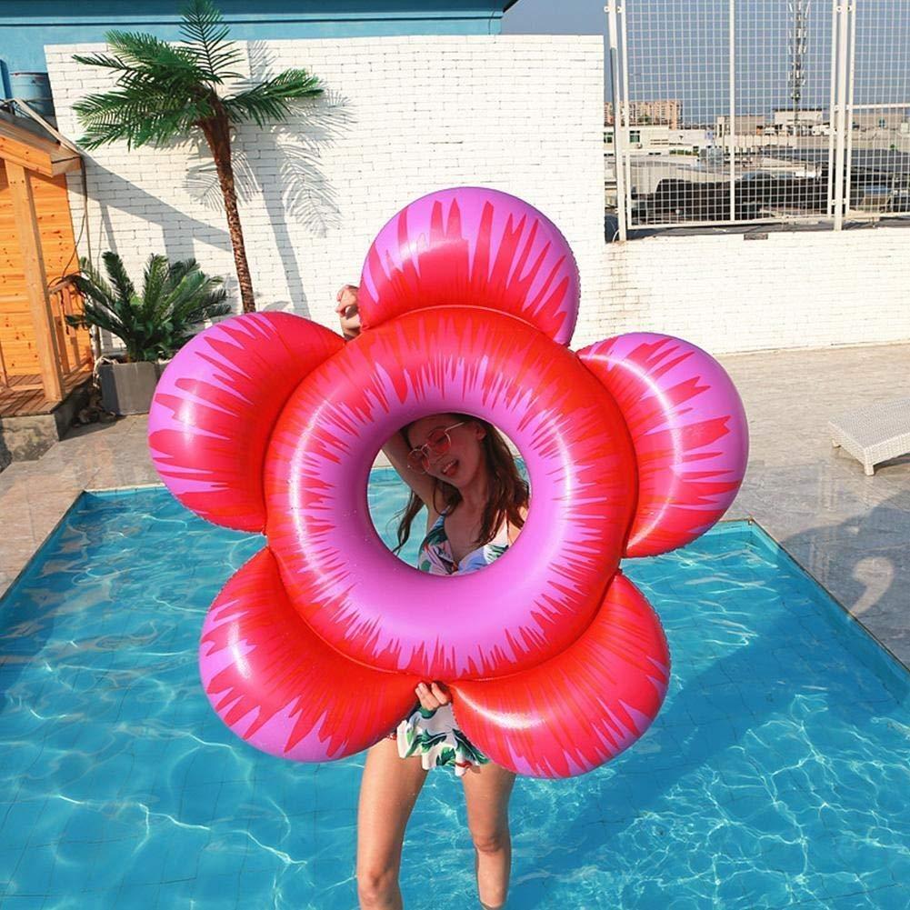 DJYD Forma de la Flor Inflable Flotador de la Piscina Inflable de la Nadada del Anillo for Las Playa del Verano de la diversión del Agua for Decorar su Fiesta en la