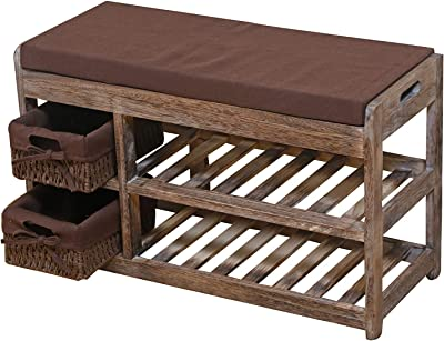 Proman Products SH17153 Shoe Bench, Brown
