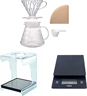 Hario V60 Complete Coffee Brewing Set - Scale, Brewer Set & Stand