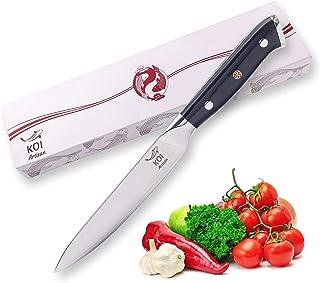 Koi Artisan - Cuchillo de utilidad de 12,7 cm - cuchillos afilados para chefs - 67 capas de Damasco japonés VG10 Super Steel
