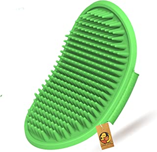 Foodie Puppies Pet Shampoo Washing Soothing Massage Rubber Bristles Hand Brush Comb for Dogs & Cats - 1 Piece (Colour May ...