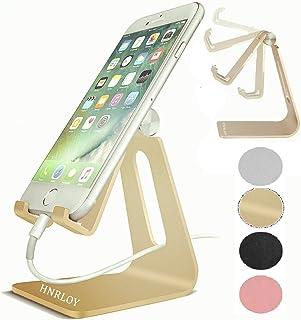 Soporte de aluminio para teléfono celular, soporte de escritorio ajustable compatible con Samsung Galaxy iPhone X Xr Xs Ma...