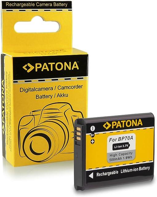 PATONA Bateria EA-BP70A / EA-BPP70A Compatible con Samsung Digimax AQ100 DV150F ES65 ES70 ES80 PL90