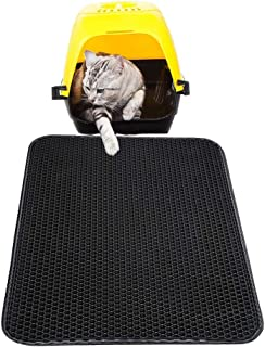 """AIMENG Cat Litter Mat Litter Trapping Mat, Honeycomb Double Layer Waterproof and Urine Proof Trapper Mats for Litter Boxes (16""""x20"""")"""