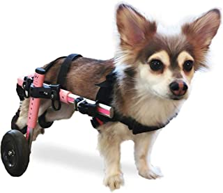 Walkin' Wheels Dog Wheelchair - for Small Dogs 11-25 Pounds - Veterinarian Approved - Dog Wheelchair for Back Legs