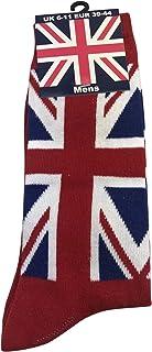 Calcetín de la bandera británica para hombre, color rojo, talla 6 – 11 (Reino Unido)