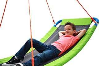 """Sponsored Ad - Giant Outdoor Platform Swing - Large 34"""" x 60"""" in Green 700 lb Weight Capacity Durable Steel Frame Waterpro..."""