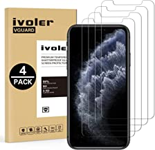 ivoler [4 Unidades] Protector de Pantalla para iPhone 11 Pro/iPhone XS/iPhone X/iPhone 10 5.8 Pulgadas, Cristal Vidrio Templado Premium