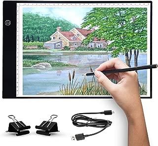 Wuudi Leuchttisch A4 LED Leuchtplatte Licht Pad Helligkeit dimmbar mit USB Kabel Tracing Lichtpad f/ür Animation Zeichnung Skizzieren Schablonieren