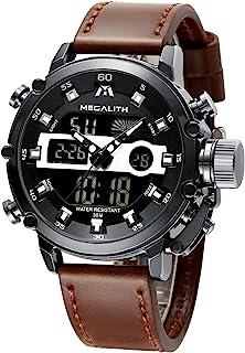 MEGALITH Montre Homme Militaire Digitale Montres Sport Etanche LED Grand Cadran Montre Bracelet Digital et Analogique Mult...