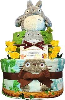おむつケーキ [ 男の子 : 女の子/となりのトトロ : ジブリ / 2段 ] パンパース S22枚 (出産祝い に Sサイズ)3011 ダイパーケーキ 赤ちゃん ベビーシャワー ギフト 誕生日プレゼント