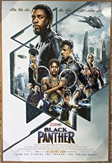 BLACK PANTHER MOVIE POSTER 2 Sided ORIGINAL INTL FINAL Ver B 27x40 CHADWICK BOSEMAN