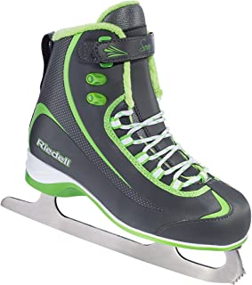 Riedell 615 Soar / Kids Beginner/Soft Figure Ice Skates / Color: Gray and Lime / Size: 11