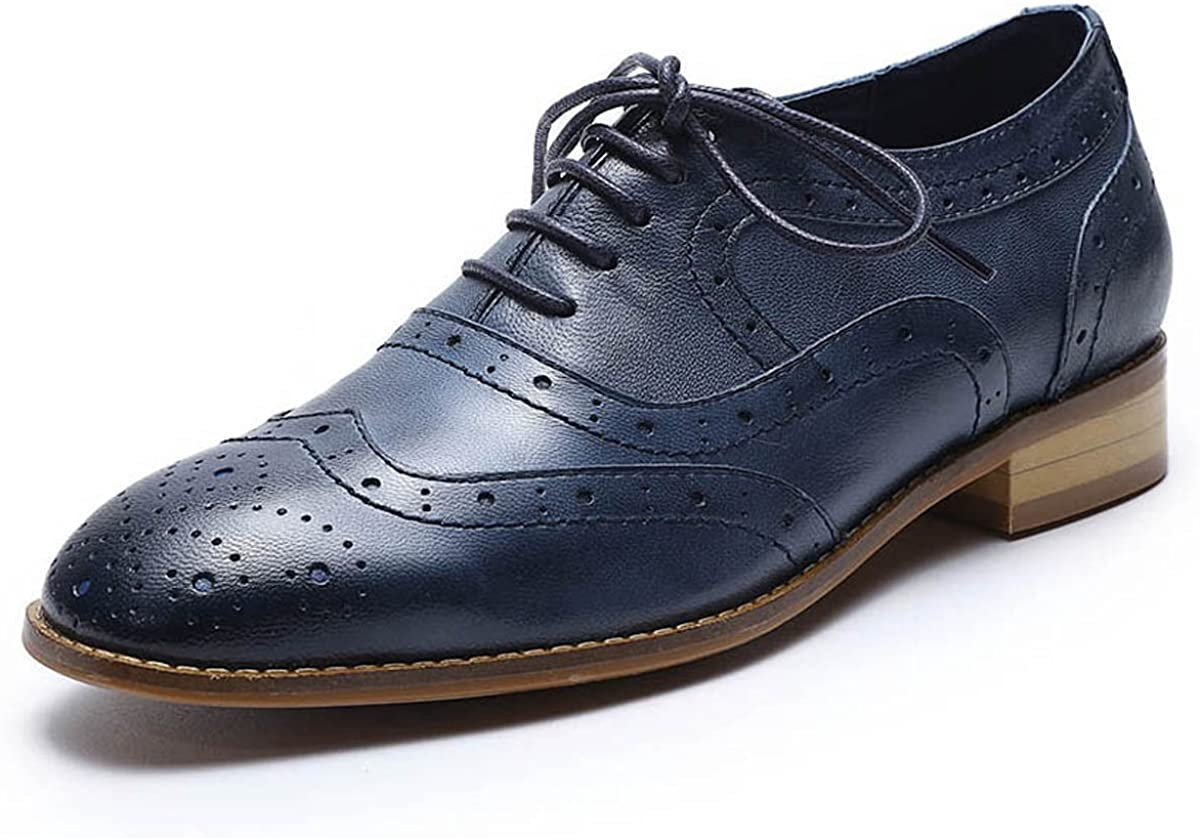 Mona Limited price sale flying Women's Leather Perforated Oxfords Brogue Ranking TOP12 Wi Lace-up