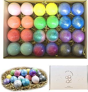 24 Pcs Bath Bomb Gift Set, Natural Organic Mini Bath Bombs