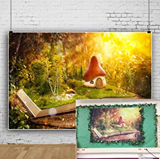OFILA Fairy Tale Backdrop5x3ft Enchanted Forests Photography Background Magic Books Girls Wonderland Photos Library Decoration Princess Tea Party Photos School Events Video Studio Props