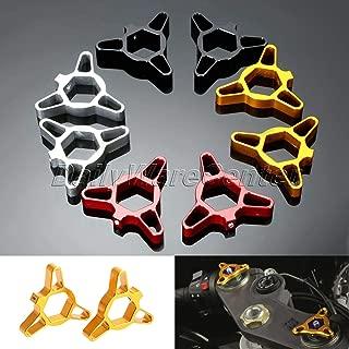 ShineBear Fittings 2 x Universal 17 mm CNC Aluminio Motocicleta Tenedor precarga Ajustador para BMW Honda CBR125 Ducati Yamaha YZF R6 Suzuki TL1000S TL1000R