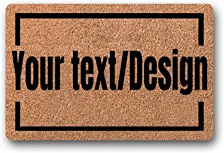 BXBCASEHOMEMAT Customized Doormat/Personalized Welcome Doormat, of Your Own Text. Excellent and Unique Home Decor. Natural Coir Mat/Housewarming Gift 18