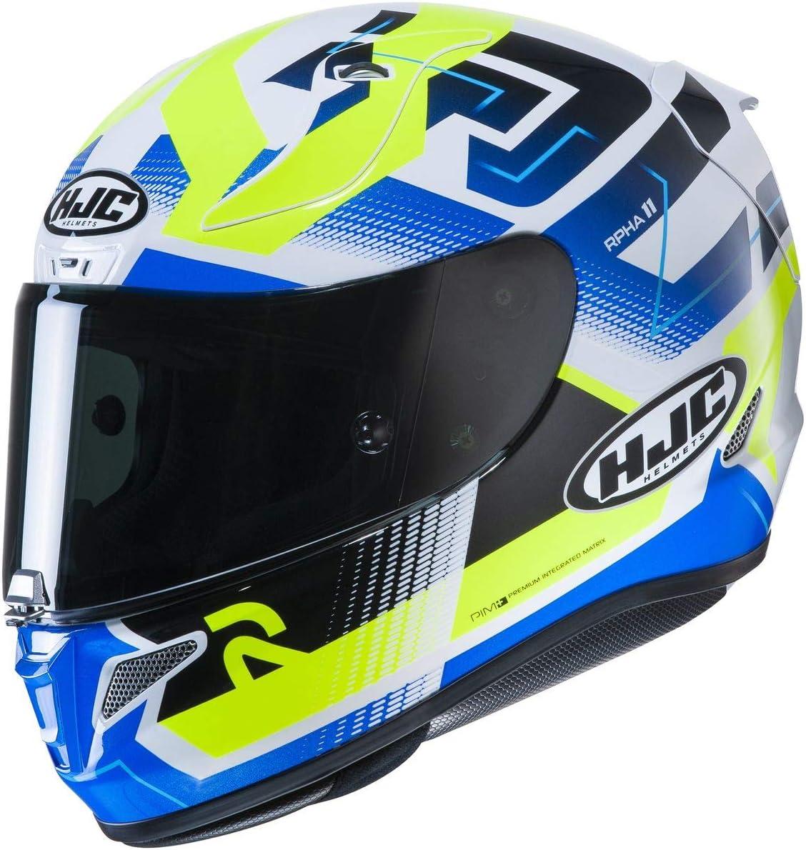 HJC Helmets RPHA Large-scale sale 11 Pro Helmet Blue Nectus X-Large - Miami Mall W HI-VIZ