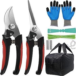 Aimerla Premium Pruning Shears. Stainless Steel Garden Shears for Plants, shrubs, Bushes. Durable Garden Scissors Set with...