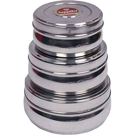 royal Stainless Steel Nesting Lunch Box and food storage container with lids - Leak Proof, Airtight, Smell Proof , Durable - Perfect For Camping Trips, Lunches, Leftovers, Salads Pack of 3
