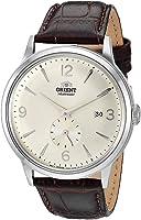 """Orient Relógio masculino""""Bambino Small Seconds"""" japonês automático com pulseira de couro, 21 mm"""