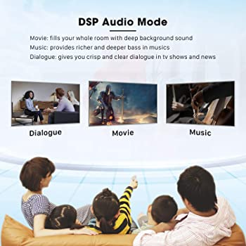 Soundbar, BESTISAN TV Sound Bar with Dual Bass Ports Wired and Wireless Bluetooth 5.0 Home Theater System (28 Inch, E...