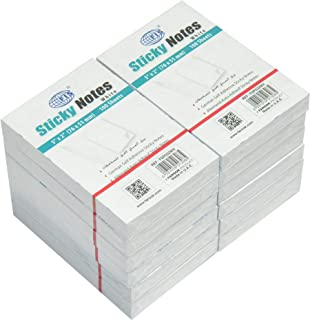 FIS Sticky Note Pads, White, (100 Sheets x 12 Pieces), 3 x 2 Inch Size - FSPO32WH