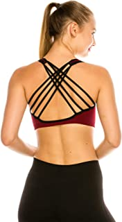 Kurve Womens Strappy Back Sports Bra, UV Protective Fabric UPF 50+ (Made with Love in The USA)