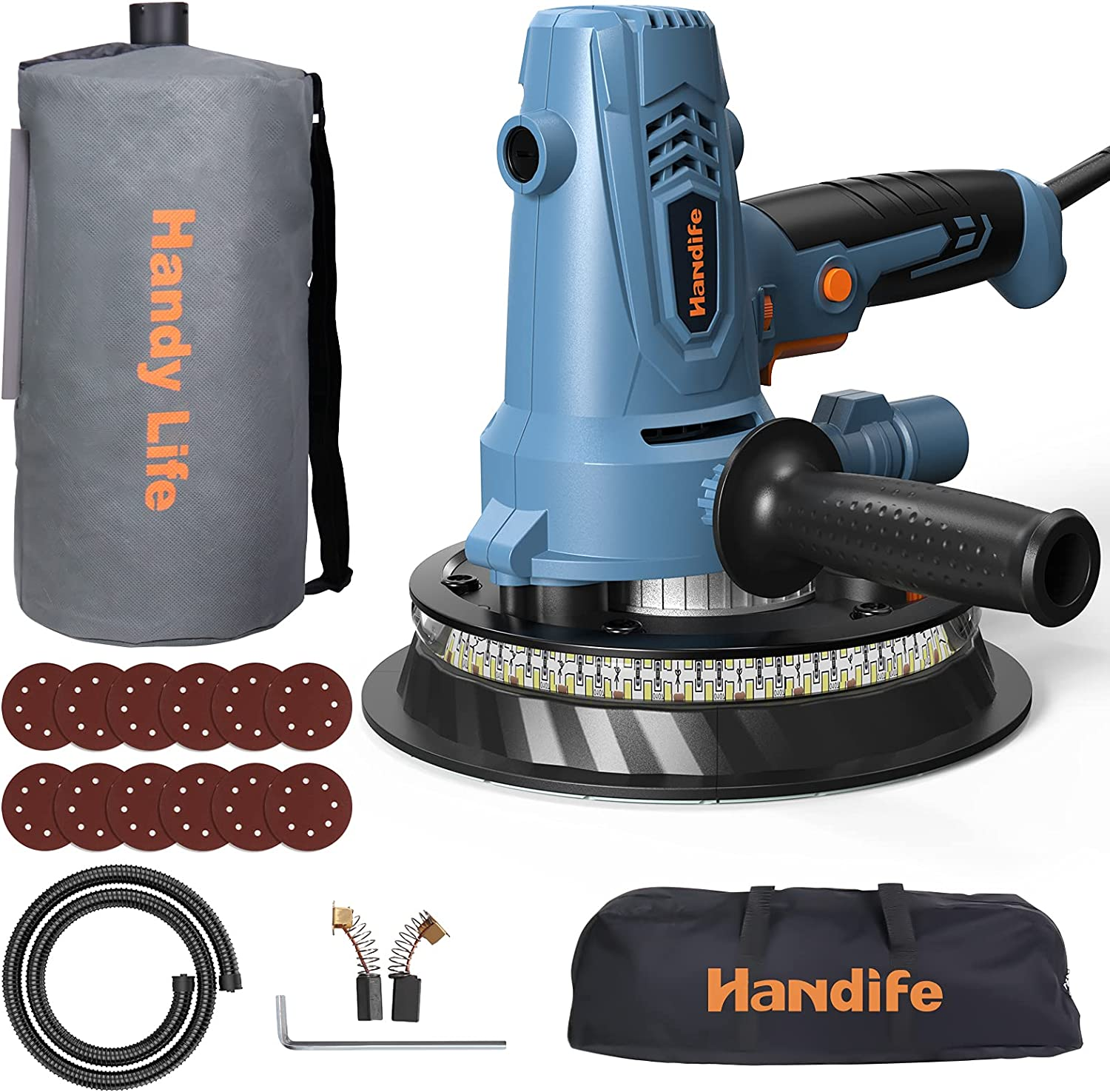 Handife Handheld Outlet SALE Drywall Limited time trial price Sander 7A Electric Dryw for 800W