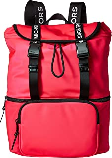 MICHAEL Michael Kors The Michael Bag Large Flap Backpack Neon Pink One Size