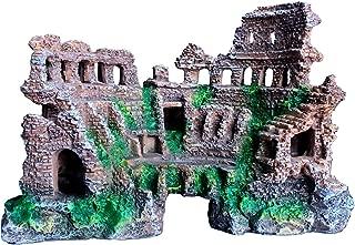 XiR Aquarium Decoration Fish Tank Ornament Ancient Ruin Style Kit Eco-Friendly Resin Material for Freshwater Saltwater Tanks