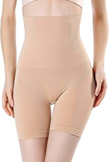 bee5d3e3319 FOCUSSEXY High Waist Shapewear for Women Tummy Control Thong Bodyshorts  Thigh Slimmers Panties