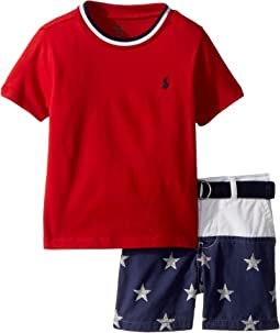 T-Shirt, Belt & Shorts Set (Infant)