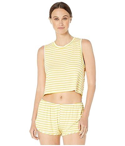 Maison Du Soir Cropped Jasper Tank (Yellow Stripe) Women